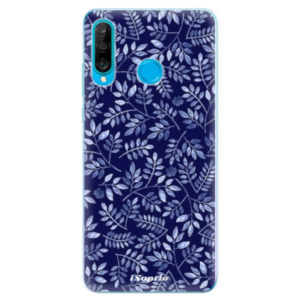 Odolné silikonové pouzdro iSaprio - Blue Leaves 05 - Huawei P30 Lite