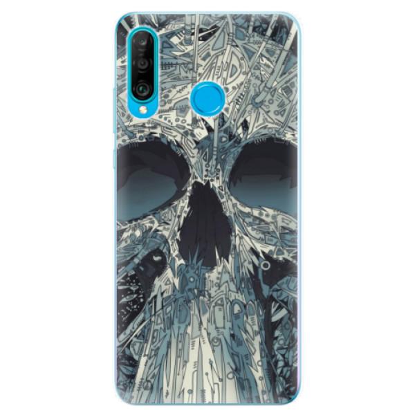 Odolné silikonové pouzdro iSaprio - Abstract Skull - Huawei P30 Lite