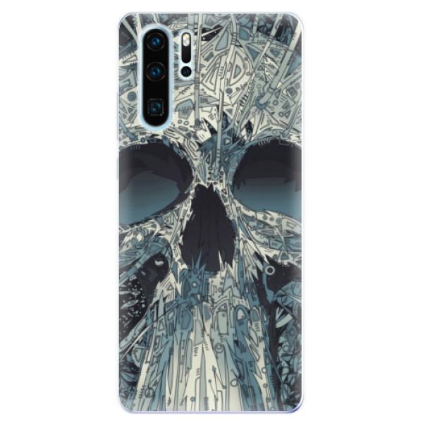 Odolné silikonové pouzdro iSaprio - Abstract Skull - Huawei P30 Pro