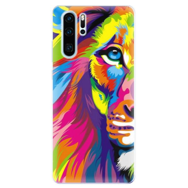 Odolné silikonové pouzdro iSaprio - Rainbow Lion - Huawei P30 Pro