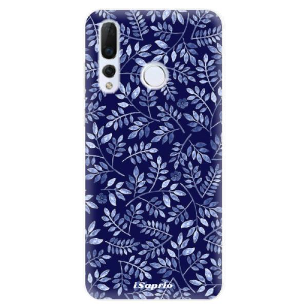 Odolné silikonové pouzdro iSaprio - Blue Leaves 05 - Huawei Nova 4