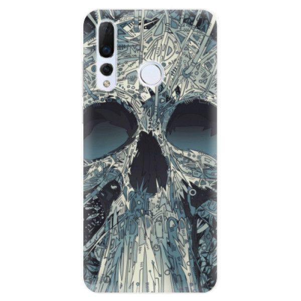 Odolné silikonové pouzdro iSaprio - Abstract Skull - Huawei Nova 4