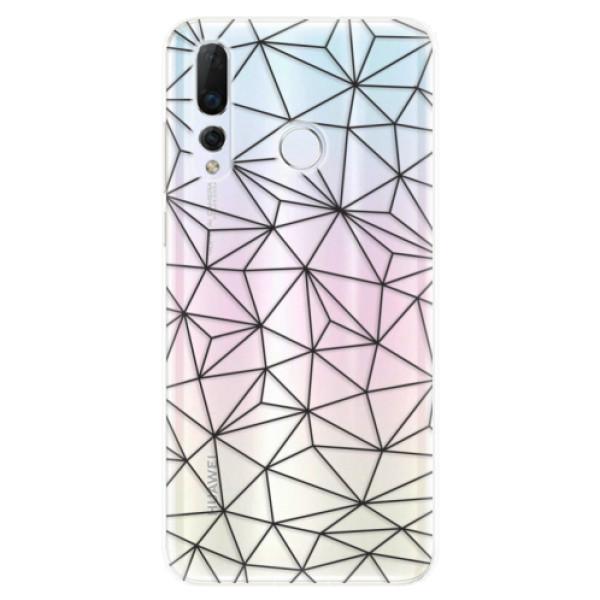 Odolné silikonové pouzdro iSaprio - Abstract Triangles 03 - black - Huawei Nova 4