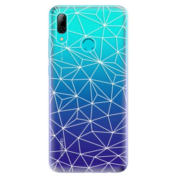 Odolné silikonové pouzdro iSaprio - Abstract Triangles 03 - white - Huawei P Smart 2019