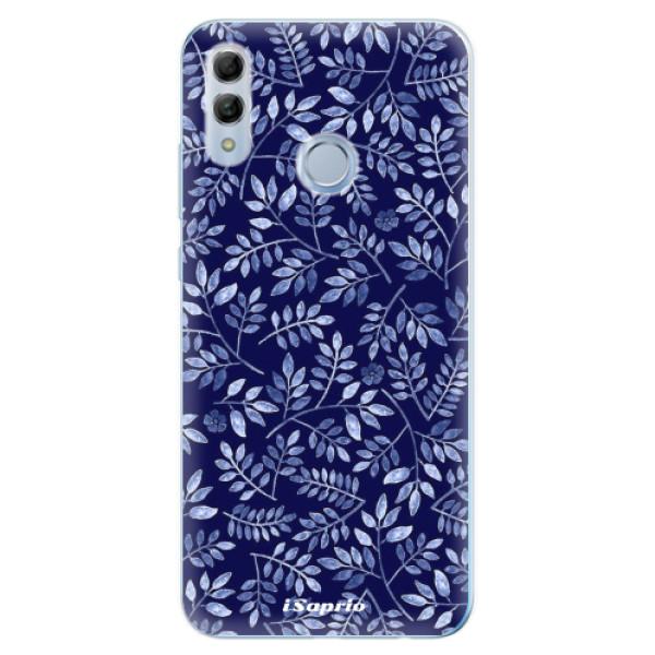 Odolné silikonové pouzdro iSaprio - Blue Leaves 05 - Huawei Honor 10 Lite