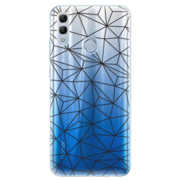 Odolné silikonové pouzdro iSaprio - Abstract Triangles 03 - black - Huawei Honor 10 Lite