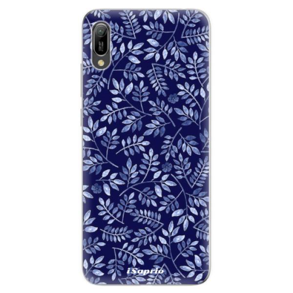Odolné silikonové pouzdro iSaprio - Blue Leaves 05 - Huawei Y6 2019