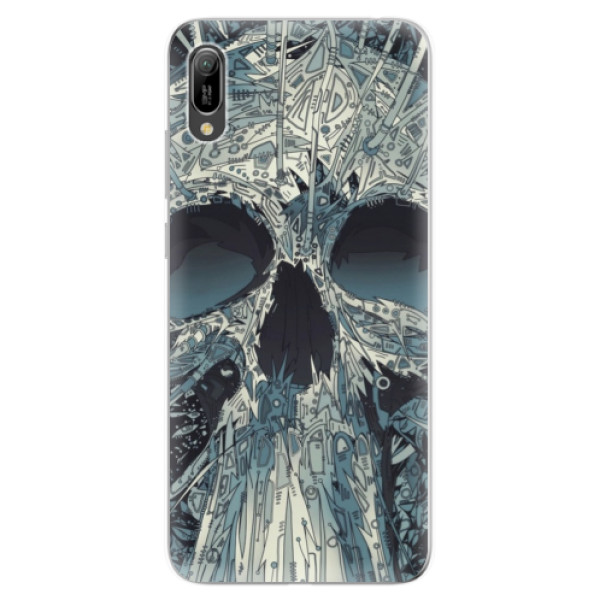 Odolné silikonové pouzdro iSaprio - Abstract Skull - Huawei Y6 2019