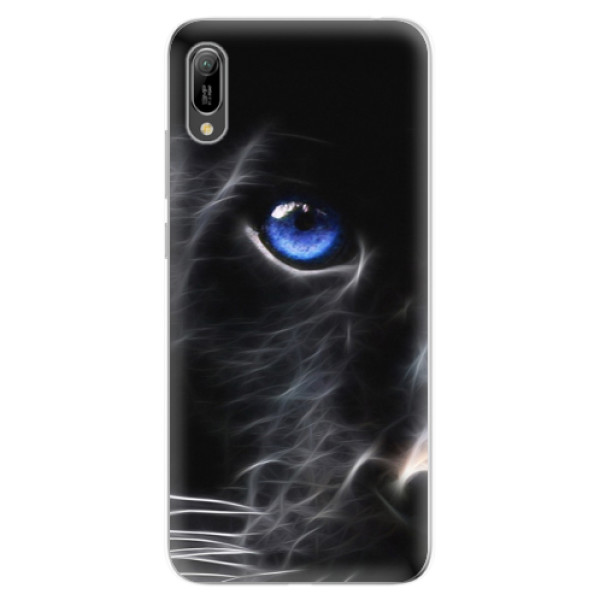 Odolné silikonové pouzdro iSaprio - Black Puma - Huawei Y6 2019