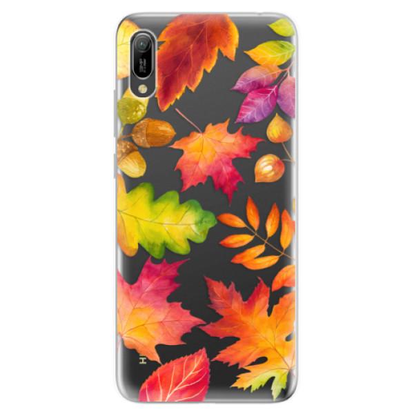 Odolné silikonové pouzdro iSaprio - Autumn Leaves 01 - Huawei Y6 2019