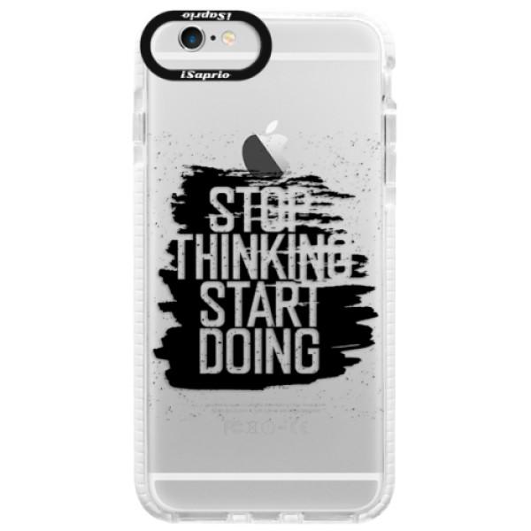 Silikonové pouzdro Bumper iSaprio - Start Doing - black - iPhone 6/6S