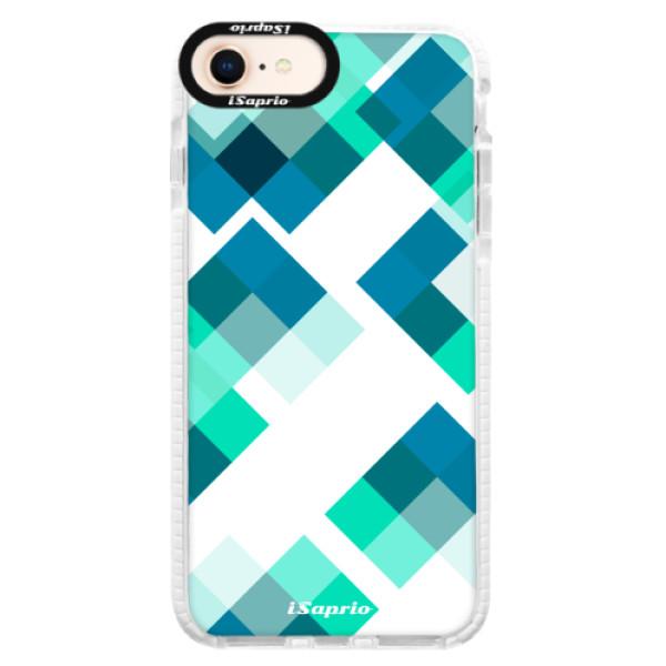 Silikonové pouzdro Bumper iSaprio - Abstract Squares 11 - iPhone 8