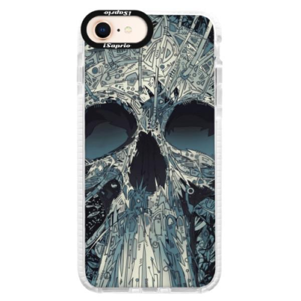Silikonové pouzdro Bumper iSaprio - Abstract Skull - iPhone 8
