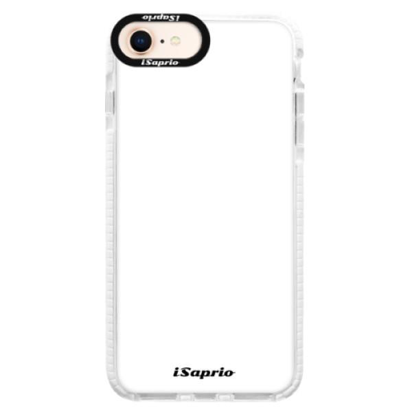 Silikonové pouzdro Bumper iSaprio - 4Pure - bílý - iPhone 8