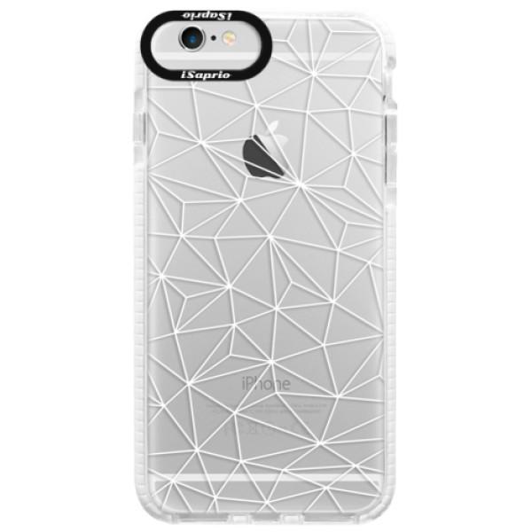 Silikonové pouzdro Bumper iSaprio - Abstract Triangles 03 - white - iPhone 6 Plus/6S Plus