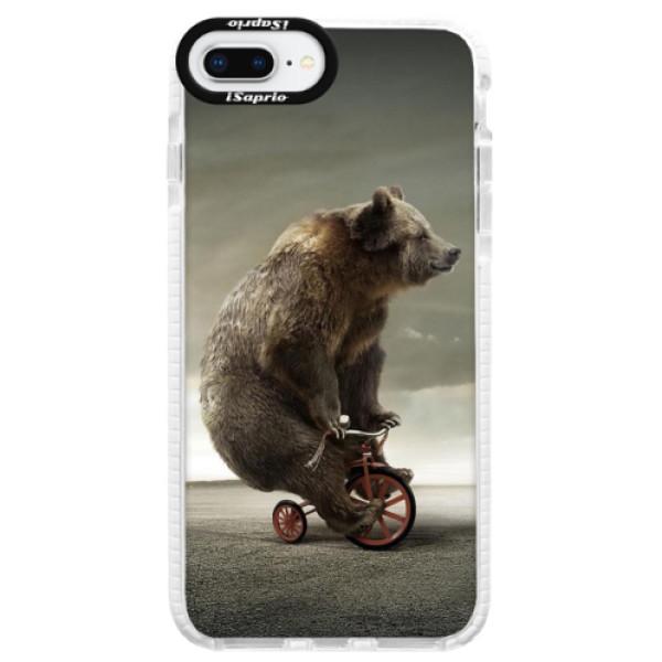 Silikonové pouzdro Bumper iSaprio - Bear 01 - iPhone 8 Plus