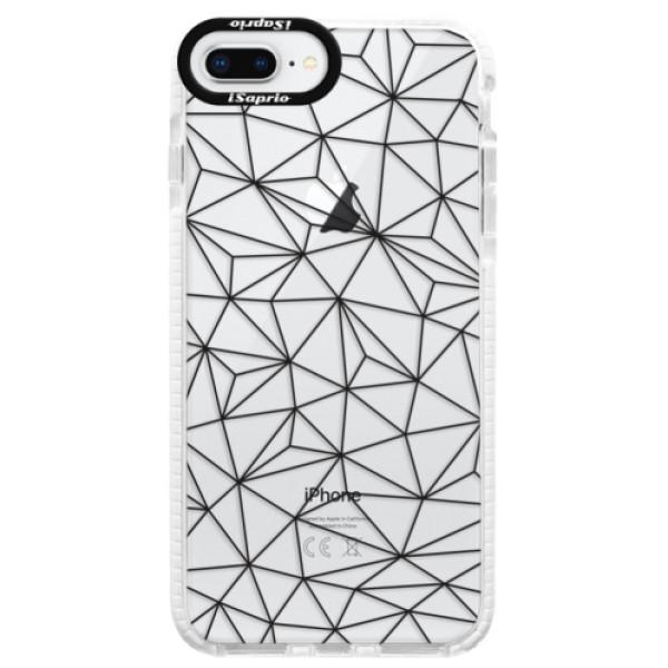 Silikonové pouzdro Bumper iSaprio - Abstract Triangles 03 - black - iPhone 8 Plus