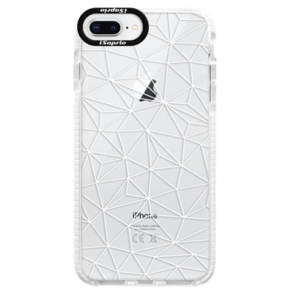 Silikonové pouzdro Bumper iSaprio - Abstract Triangles 03 - white - iPhone 8 Plus