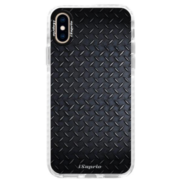 Silikonové pouzdro Bumper iSaprio - Metal 01 - iPhone XS