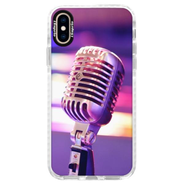 Silikonové pouzdro Bumper iSaprio - Vintage Microphone - iPhone XS