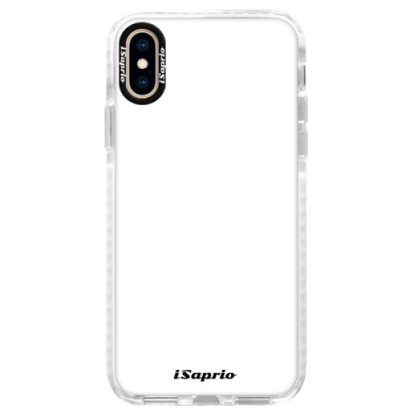 Silikonové pouzdro Bumper iSaprio - 4Pure - bílý - iPhone XS