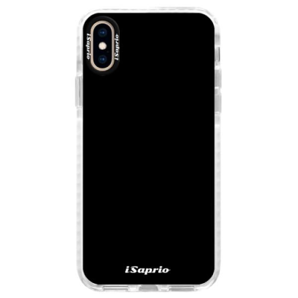Silikonové pouzdro Bumper iSaprio - 4Pure - černý - iPhone XS