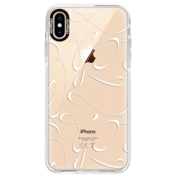 Silikonové pouzdro Bumper iSaprio - Fancy - white - iPhone XS Max