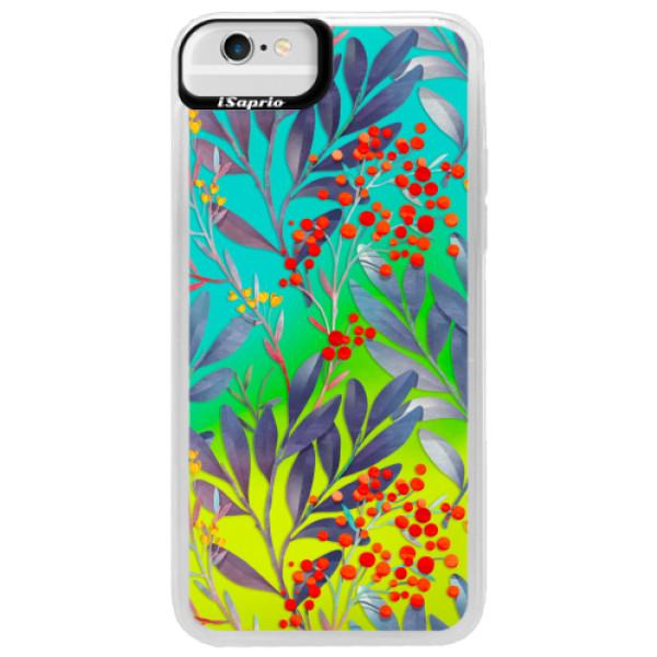 Neonové pouzdro Blue iSaprio - Rowanberry - iPhone 6/6S
