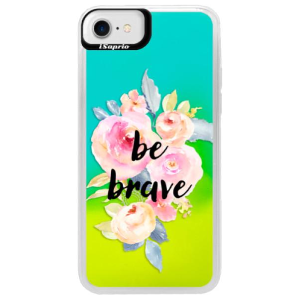 Neonové pouzdro Blue iSaprio - Be Brave - iPhone 7