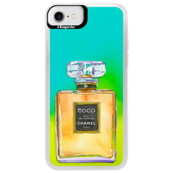 Neonové pouzdro Blue iSaprio - Chanel Gold - iPhone 7