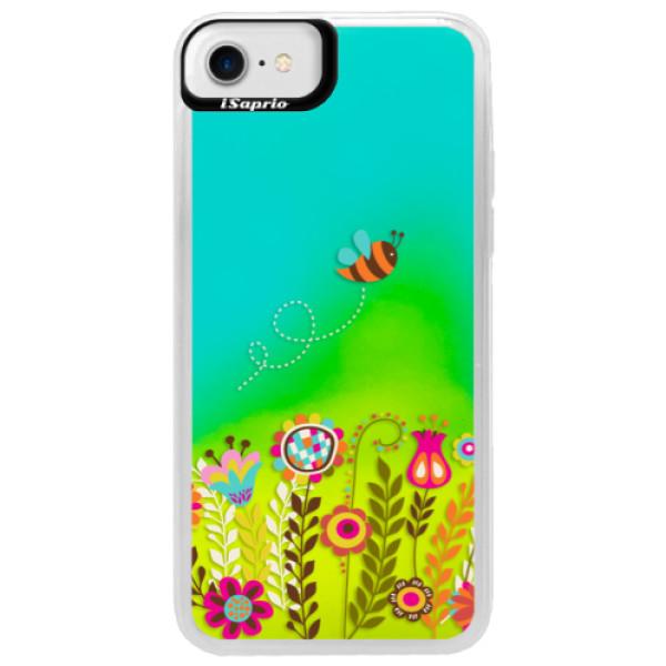 Neonové pouzdro Blue iSaprio - Bee 01 - iPhone 7