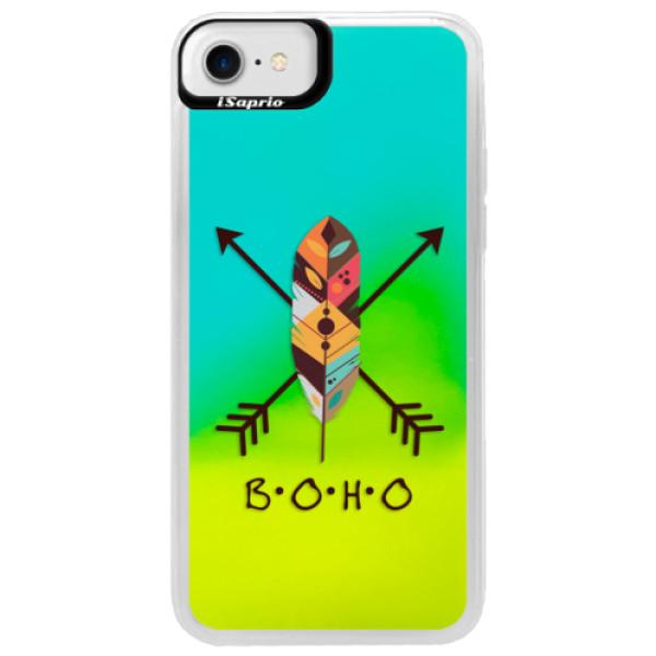 Neonové pouzdro Blue iSaprio - BOHO - iPhone 7