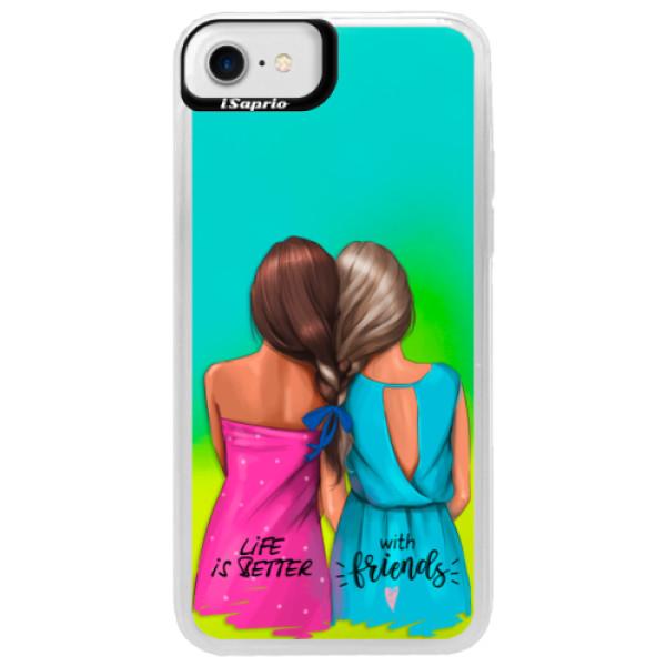 Neonové pouzdro Blue iSaprio - Best Friends - iPhone 7