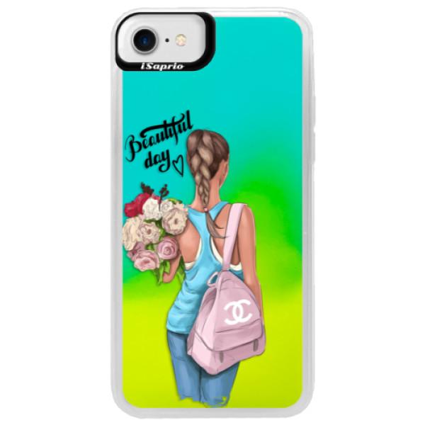 Neonové pouzdro Blue iSaprio - Beautiful Day - iPhone 7