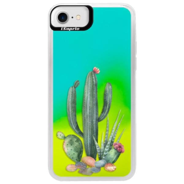 Neonové pouzdro Blue iSaprio - Cacti 02 - iPhone 7