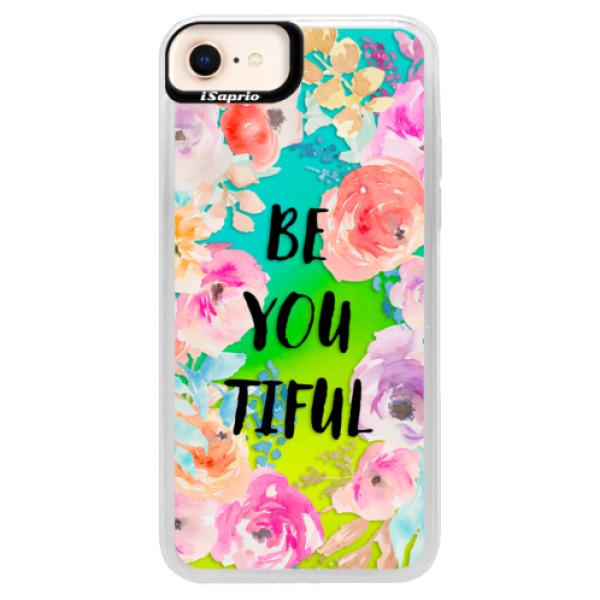 Neonové pouzdro Blue iSaprio - BeYouTiful - iPhone 8