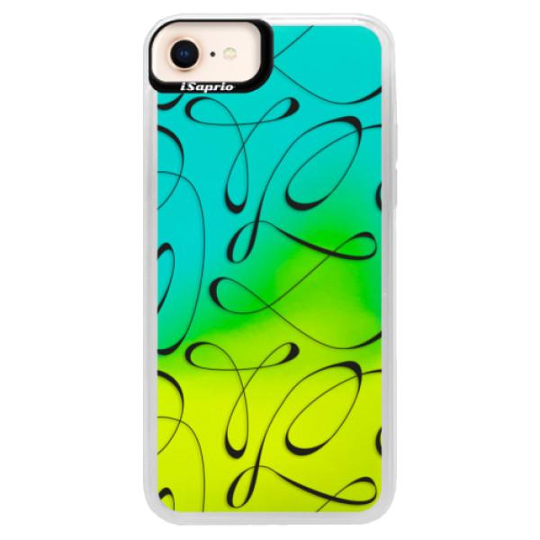 Neonové pouzdro Blue iSaprio - Fancy - black - iPhone 8