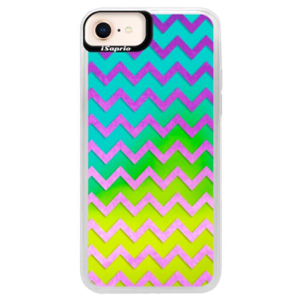 Neonové pouzdro Blue iSaprio - Zigzag - purple - iPhone 8