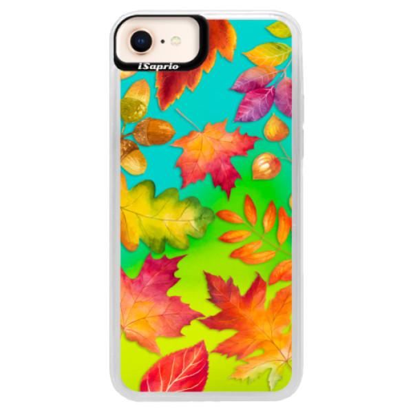 Neonové pouzdro Blue iSaprio - Autumn Leaves 01 - iPhone 8