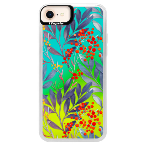 Neonové pouzdro Blue iSaprio - Rowanberry - iPhone 8