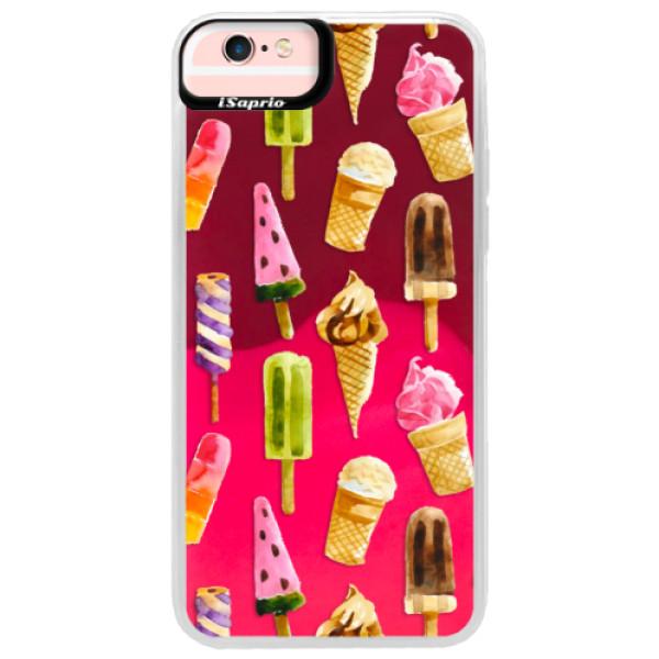 Neonové pouzdro Pink iSaprio - Ice Cream - iPhone 6 Plus/6S Plus