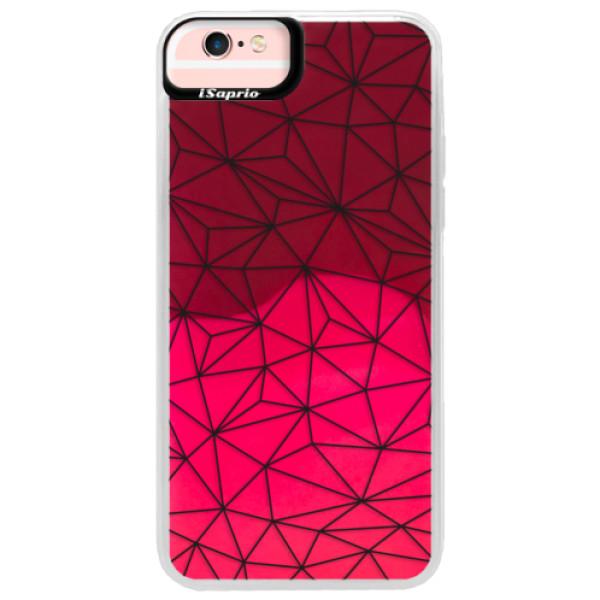 Neonové pouzdro Pink iSaprio - Abstract Triangles 03 - black - iPhone 6 Plus/6S Plus