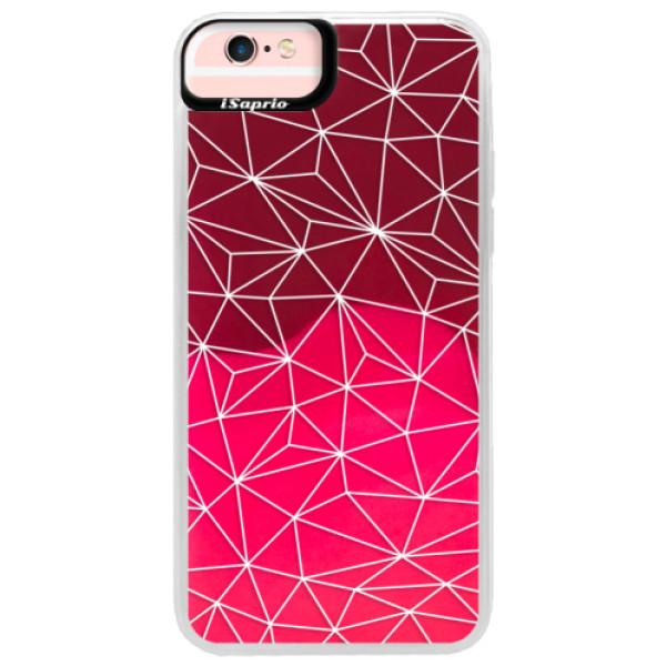 Neonové pouzdro Pink iSaprio - Abstract Triangles 03 - white - iPhone 6 Plus/6S Plus