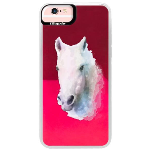 Neonové pouzdro Pink iSaprio - Horse 01 - iPhone 6 Plus/6S Plus