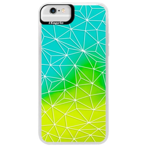 Neonové pouzdro Blue iSaprio - Abstract Triangles 03 - white - iPhone 6 Plus/6S Plus