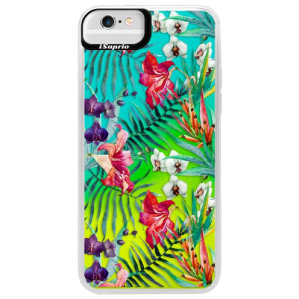Neonové pouzdro Blue iSaprio - Flower Pattern 03 - iPhone 6 Plus/6S Plus