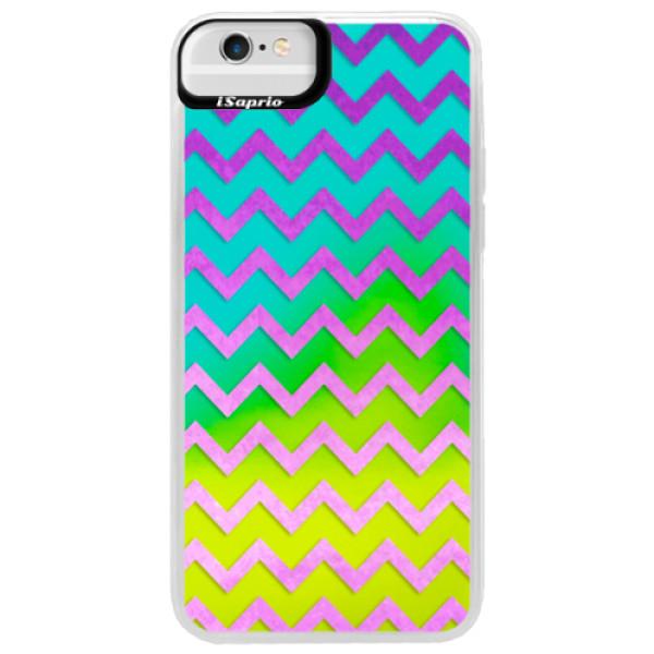 Neonové pouzdro Blue iSaprio - Zigzag - purple - iPhone 6 Plus/6S Plus