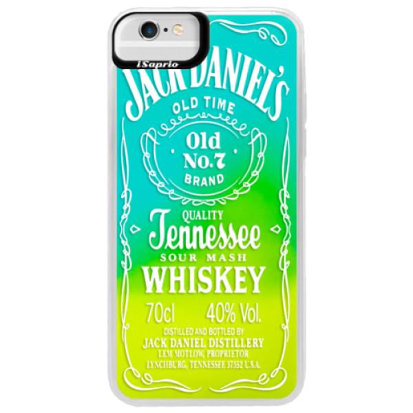 Neonové pouzdro Blue iSaprio - Transparent White Jack - iPhone 6 Plus/6S Plus