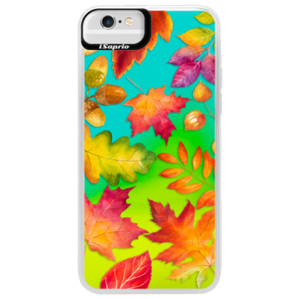 Neonové pouzdro Blue iSaprio - Autumn Leaves 01 - iPhone 6 Plus/6S Plus