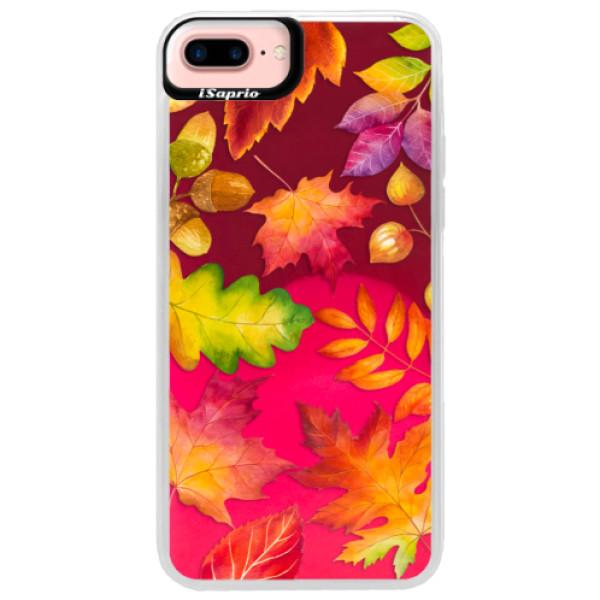 Neonové pouzdro Pink iSaprio - Autumn Leaves 01 - iPhone 7 Plus
